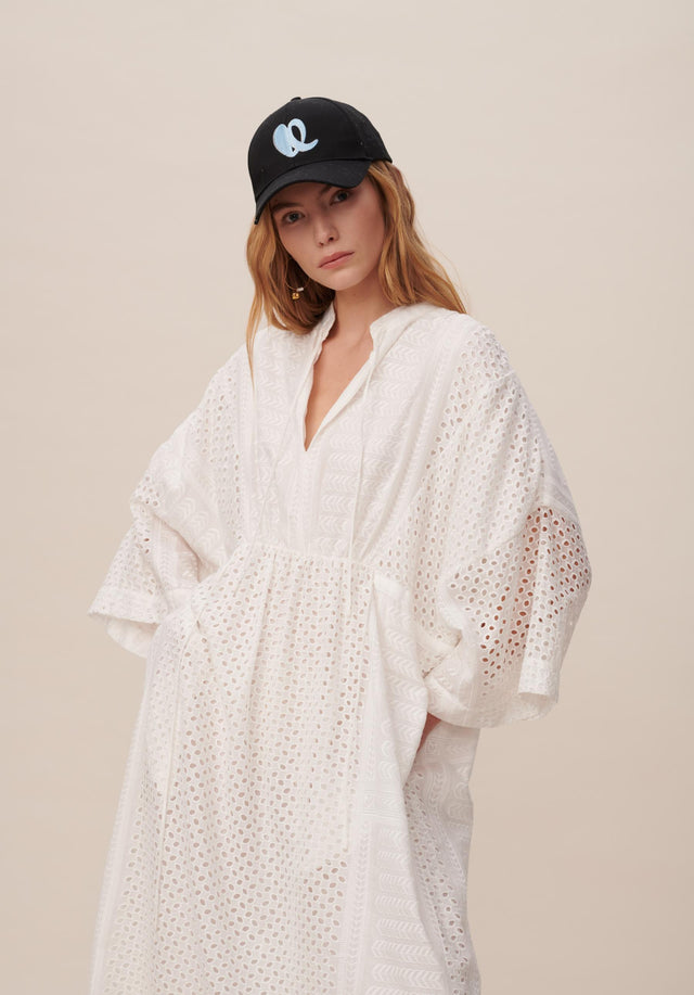 Dress Delias Broderie Anglaise Kufiya - Welcoming our urban kaftan in delicate broderie anglaise to the... - 9/11