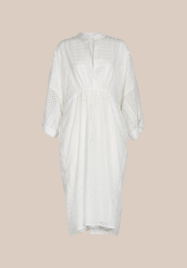 Dress Delias Broderie Anglaise Kufiya - Welcoming our urban kaftan in delicate broderie anglaise to the... - 11/11