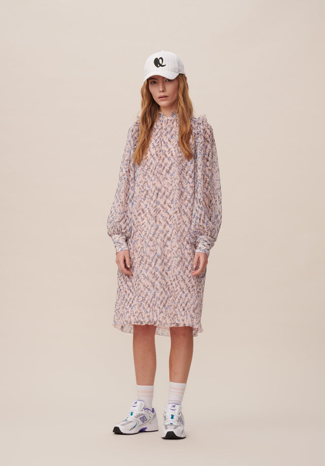 Dress Dimi Cheetah Kufiya Blush - A lightweight and uncomplicated tunic dress with delicate sleeves and... - 4/15