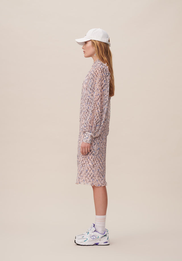 Dress Dimi Cheetah Kufiya Blush - A lightweight and uncomplicated tunic dress with delicate sleeves and... - 8/15