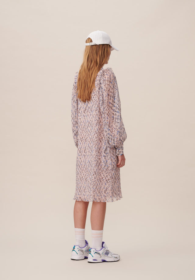 Dress Dimi Cheetah Kufiya Blush - A lightweight and uncomplicated tunic dress with delicate sleeves and... - 9/15