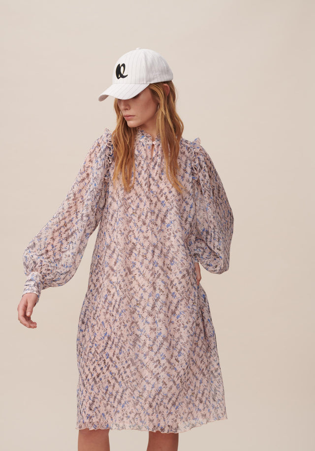 Dress Dimi Cheetah Kufiya Blush - A lightweight and uncomplicated tunic dress with delicate sleeves and... - 10/15
