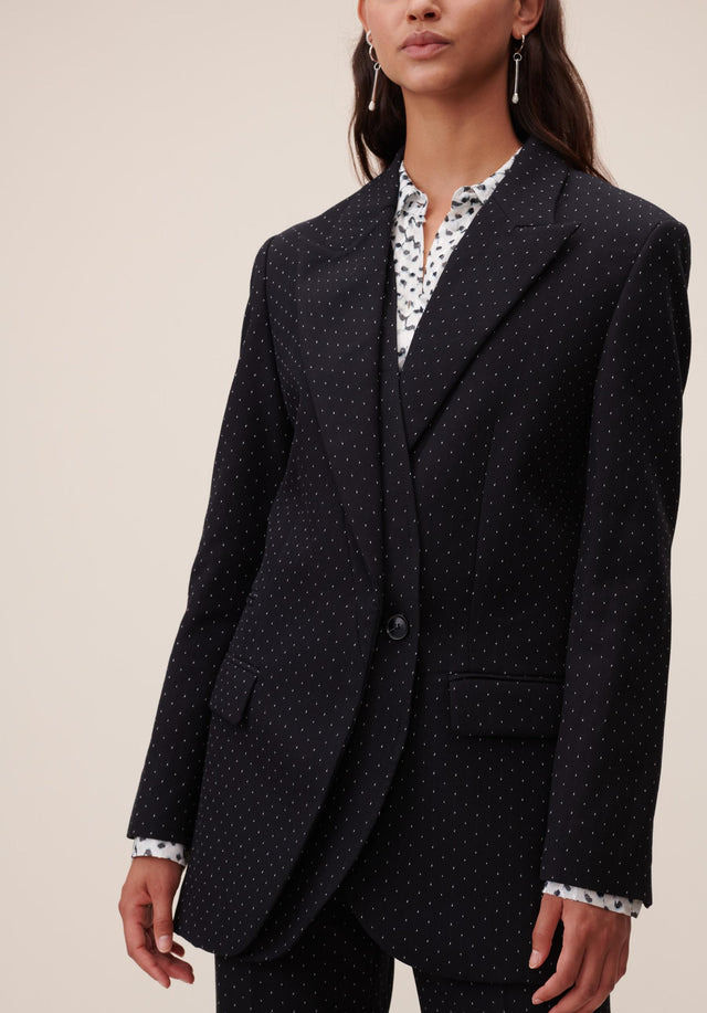Jacket Jannik Black & White Dots - A cool boyfriend blazer, impeccably tailored, topped off with subtle... - 2/9