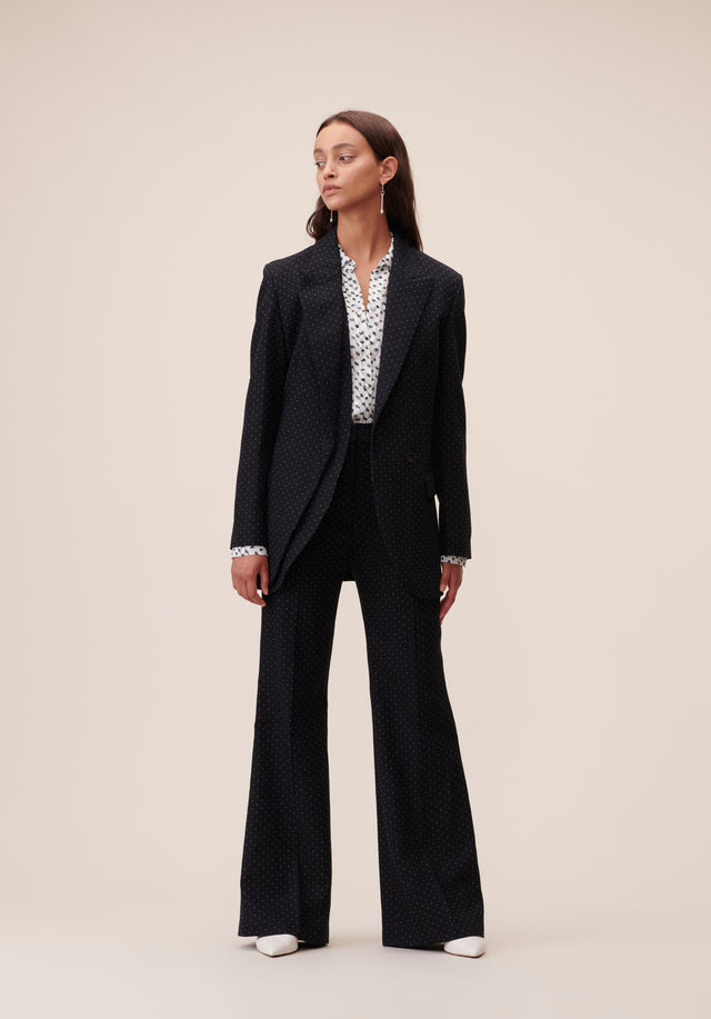 Jacket Jannik Black & White Dots - A cool boyfriend blazer, impeccably tailored, topped off with subtle... - 4/9