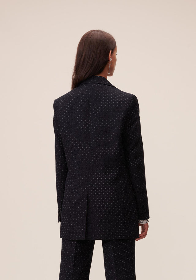 Jacket Jannik Black & White Dots - A cool boyfriend blazer, impeccably tailored, topped off with subtle... - 7/9