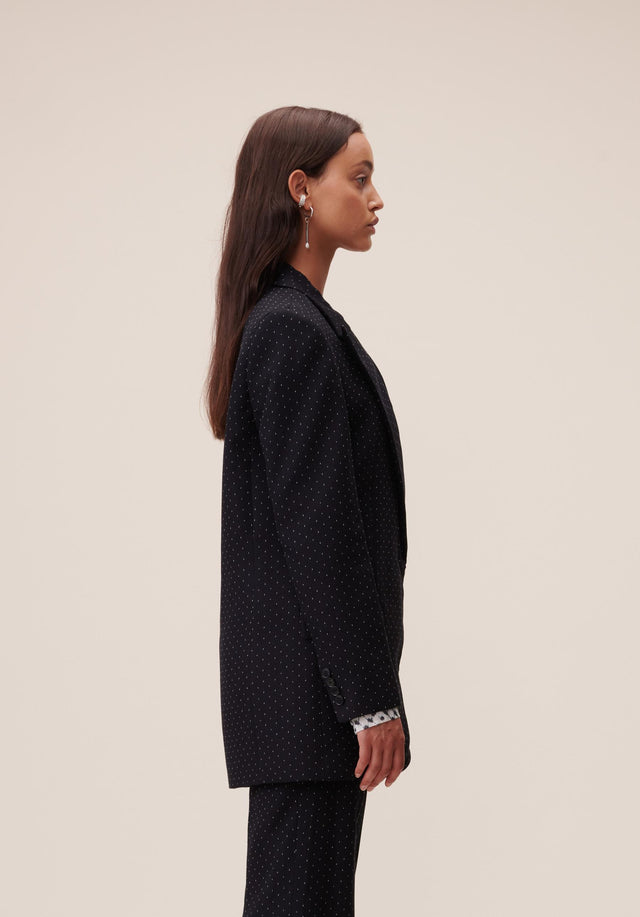 Jacket Jannik Black & White Dots - A cool boyfriend blazer, impeccably tailored, topped off with subtle... - 8/9