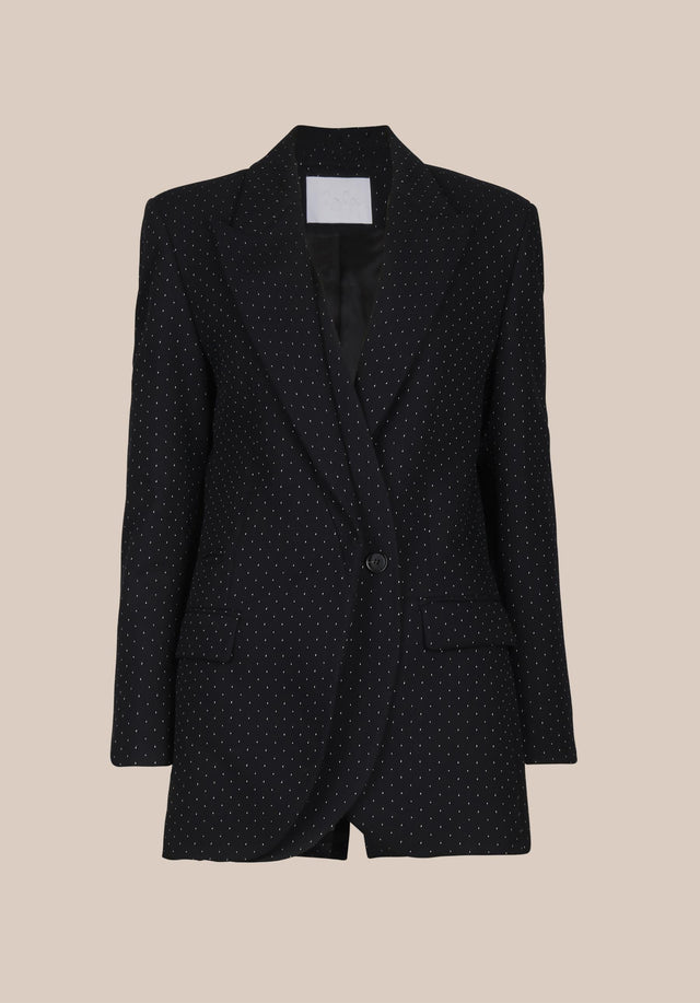 Jacket Jannik Black & White Dots - A cool boyfriend blazer, impeccably tailored, topped off with subtle... - 9/9