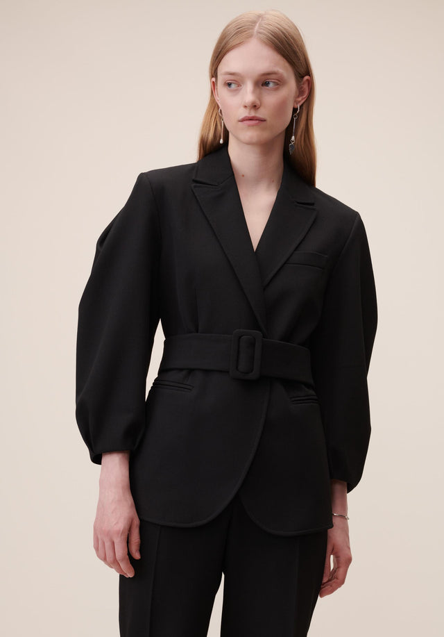 Jacket Java Black - A feminine blazer made of a slightly stretchy viscose blend,... - 2/8