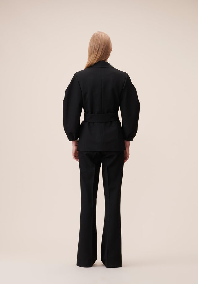 Jacket Java Black - A feminine blazer made of a slightly stretchy viscose blend,... - 6/8