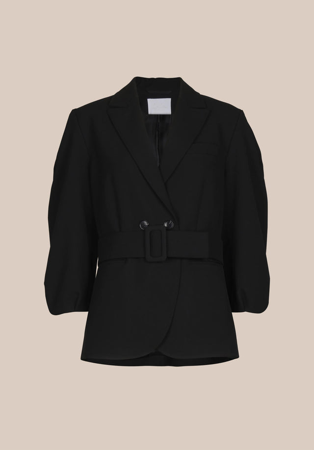 Jacket Java Black - A feminine blazer made of a slightly stretchy viscose blend,... - 8/8