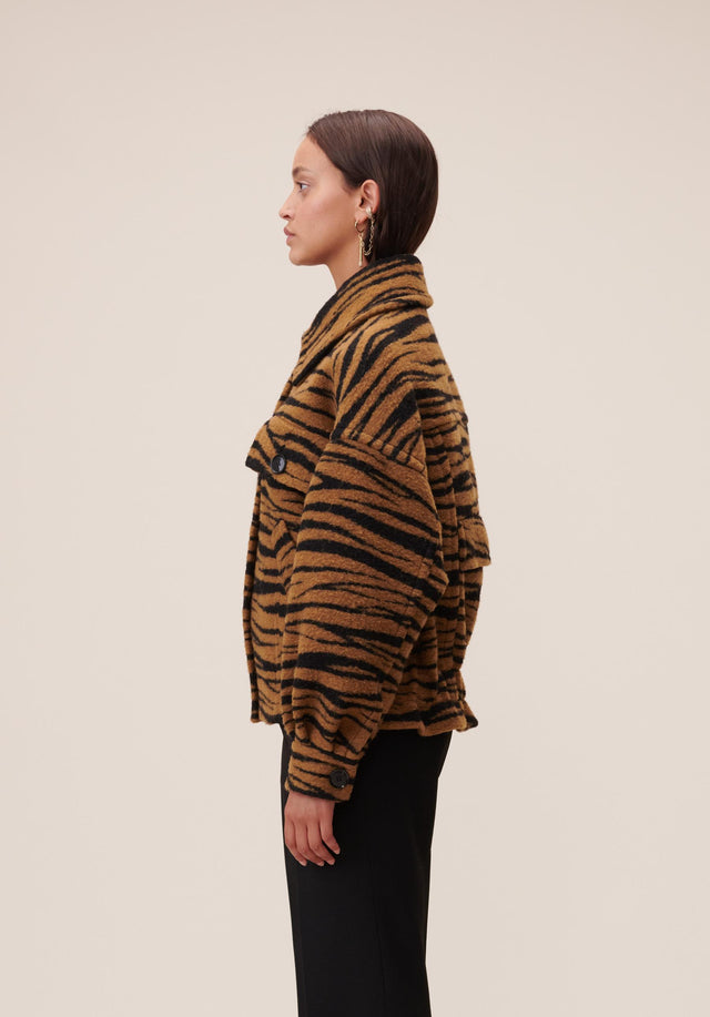 Jacket Jua Animal Bronze Zebra Wool - A oversized wool-blend jacket featuring our vibrant Fall/Winter 20 Bronze... - 2/7