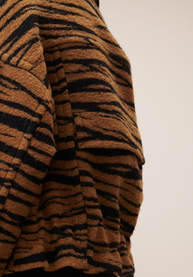 Jacket Jua Animal Bronze Zebra Wool - A oversized wool-blend jacket featuring our vibrant Fall/Winter 20 Bronze... - 5/7