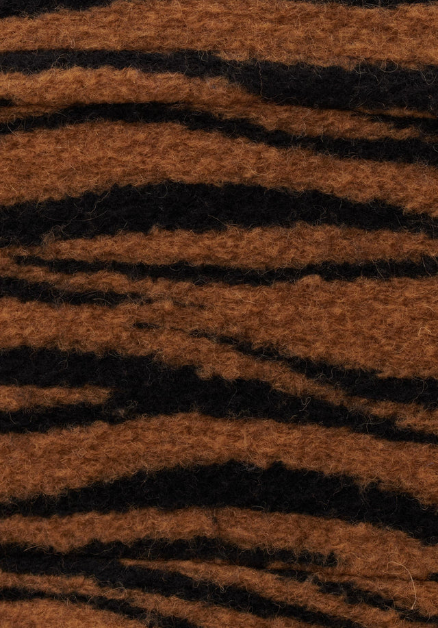 Jacket Jua Animal Bronze Zebra Wool - A oversized wool-blend jacket featuring our vibrant Fall/Winter 20 Bronze... - 6/7