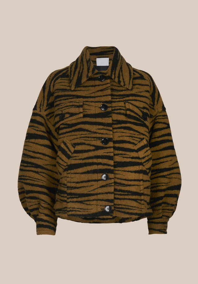 Jacket Jua Animal Bronze Zebra Wool - A oversized wool-blend jacket featuring our vibrant Fall/Winter 20 Bronze... - 7/7