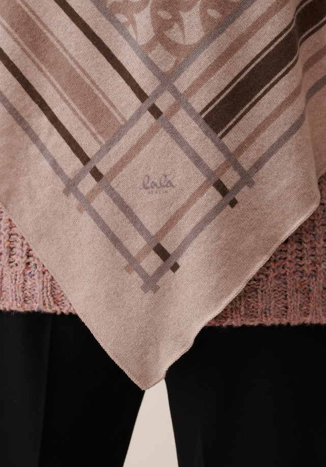 Triangle Stripe Monogram M Stripe Monogram on Dune - A luxuriosly soft, triangle shaped cashmere scarf, featuring our brandnew... - 2/4
