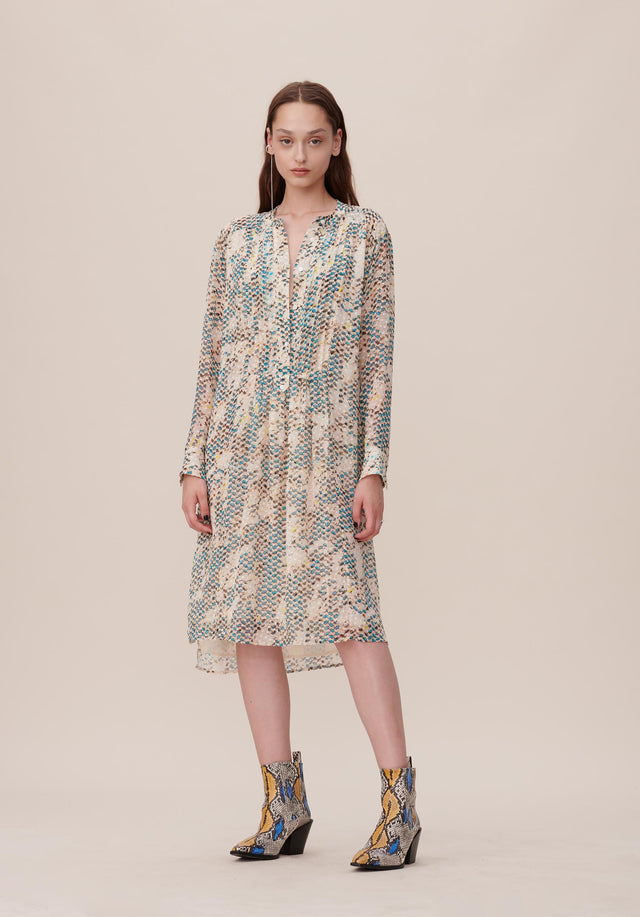 Dress Dillon Kufiya Snake Blue - A light, oversized dress made of a premium silk and...