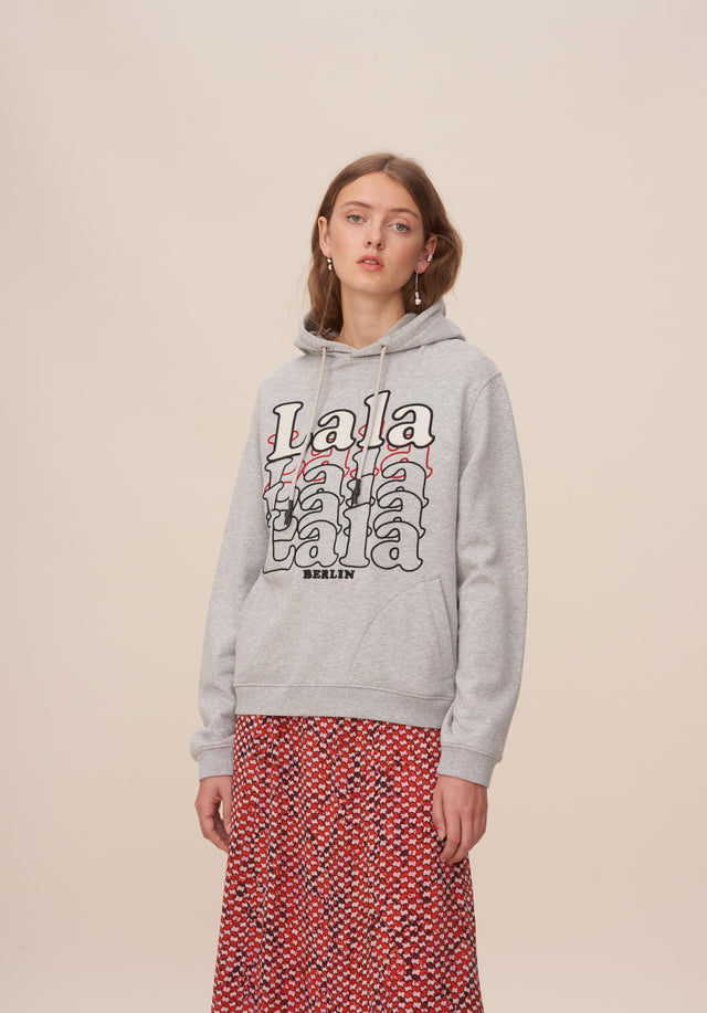 Hoodie Irmin Grey Melange - A new version of our popular lala Berlin hoodies featuring...