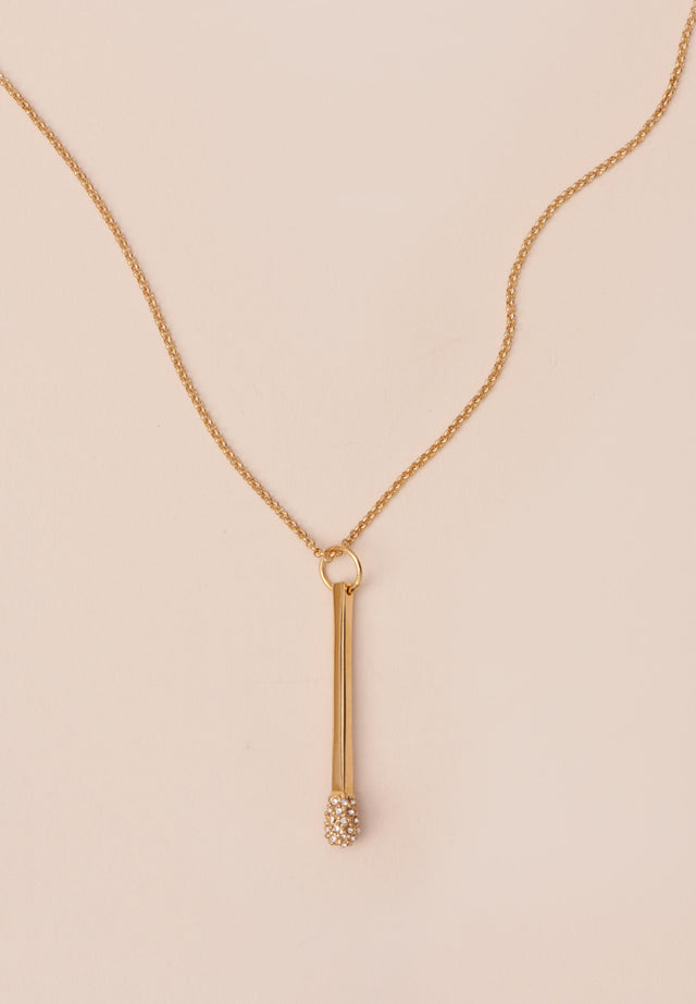 Necklace Aneta Gold - A delicate necklace with match pendant, topped off with Swarovski... - 2/3
