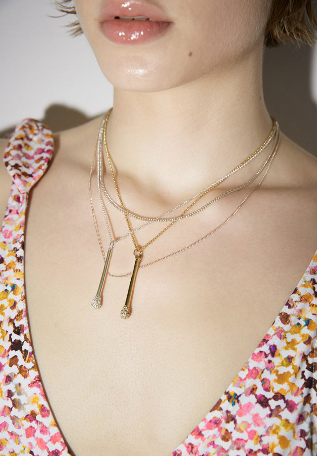 Necklace Aneta Gold - A delicate necklace with match pendant, topped off with Swarovski... - 3/3