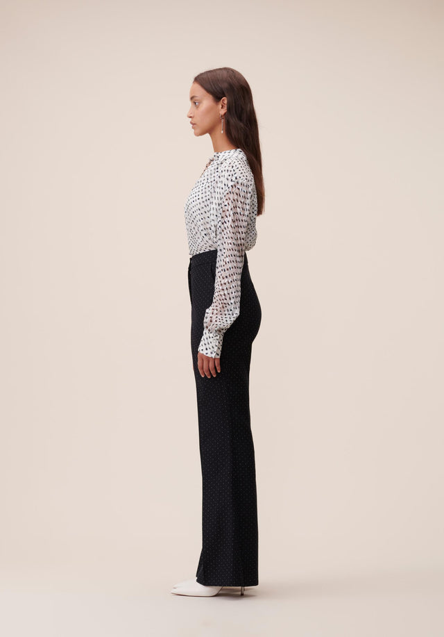 Pants Polli White Dots Black & White Dots - A carefully tailored, 70s inspired dress pant, topped off with... - 4/6