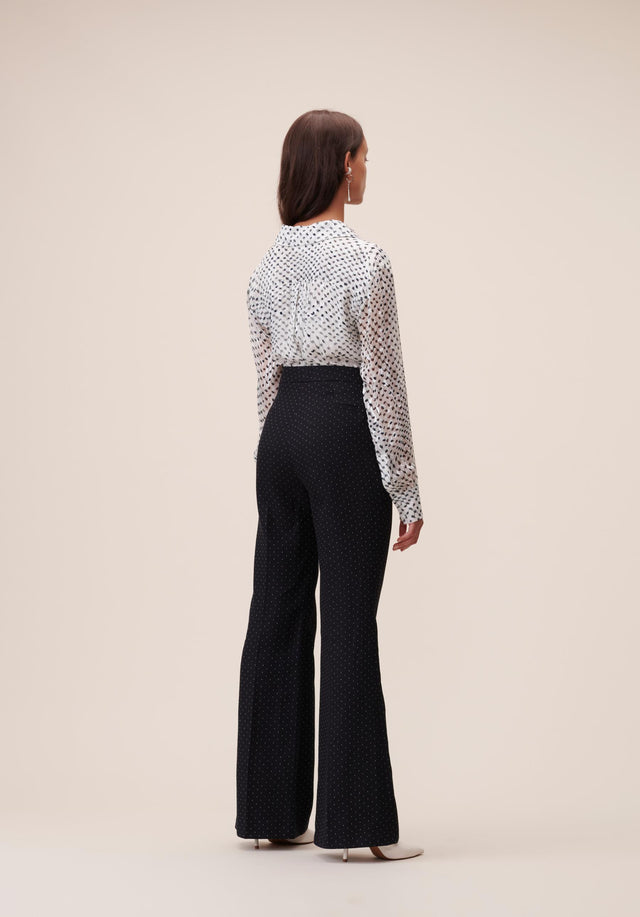 Pants Polli White Dots Black & White Dots - A carefully tailored, 70s inspired dress pant, topped off with... - 5/6