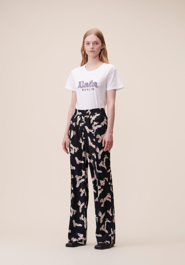 Pants Puffy Falcon Black Falcon - Elegant, lightweight pants featuring our Fall/Winter 20 Falcon Print with... - 1/5