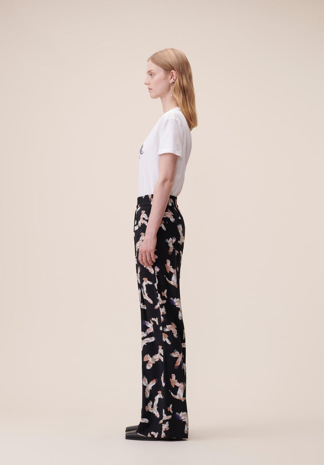Pants Puffy Falcon Black Falcon - Elegant, lightweight pants featuring our Fall/Winter 20 Falcon Print with... - 2/5