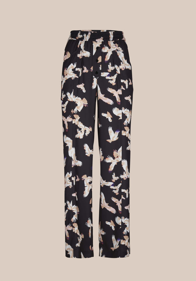 Pants Puffy Falcon Black Falcon - Elegant, lightweight pants featuring our Fall/Winter 20 Falcon Print with... - 5/5