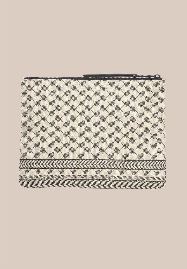 Pouch Prema Camel Black Kufiya - A cute and practical pouch with a beautifully embroidered jaquard... - 6/8