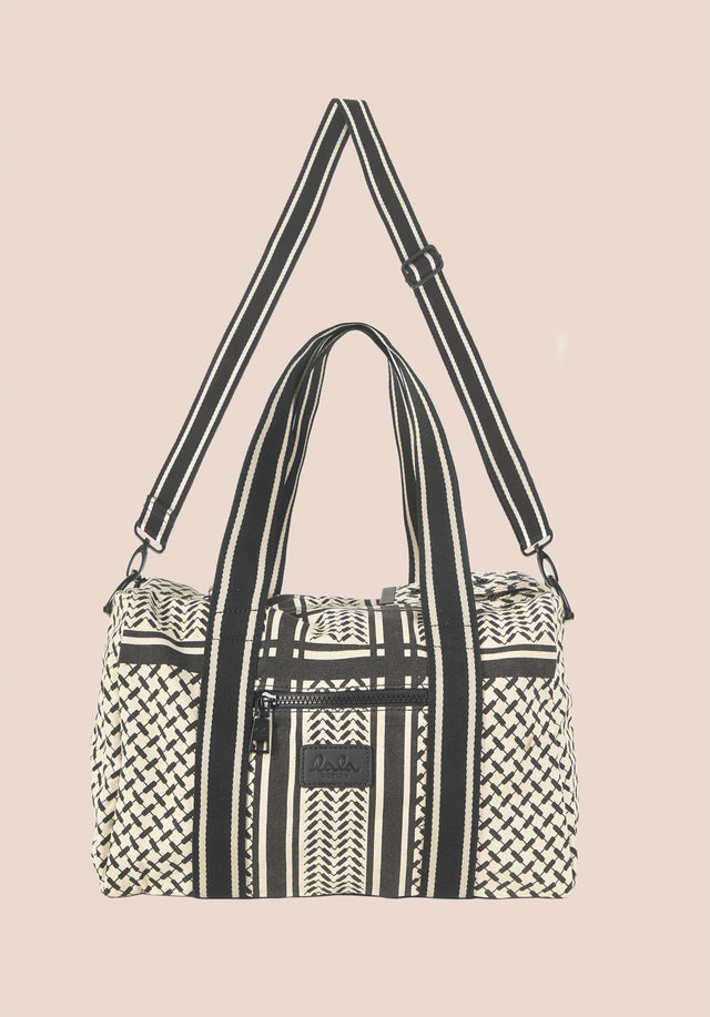 Small Bag Muriel Kufiya Off-White_Black - A small version of our bestselling Big Bag Muriel, made... - 1/5