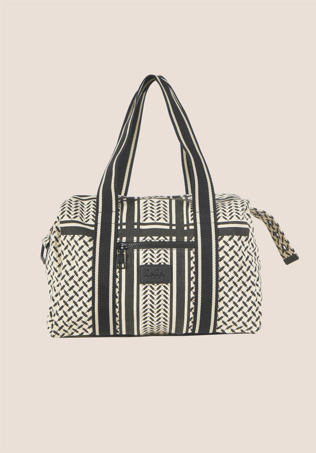 Small Bag Muriel Kufiya Off-White_Black - A small version of our bestselling Big Bag Muriel, made... - 2/5