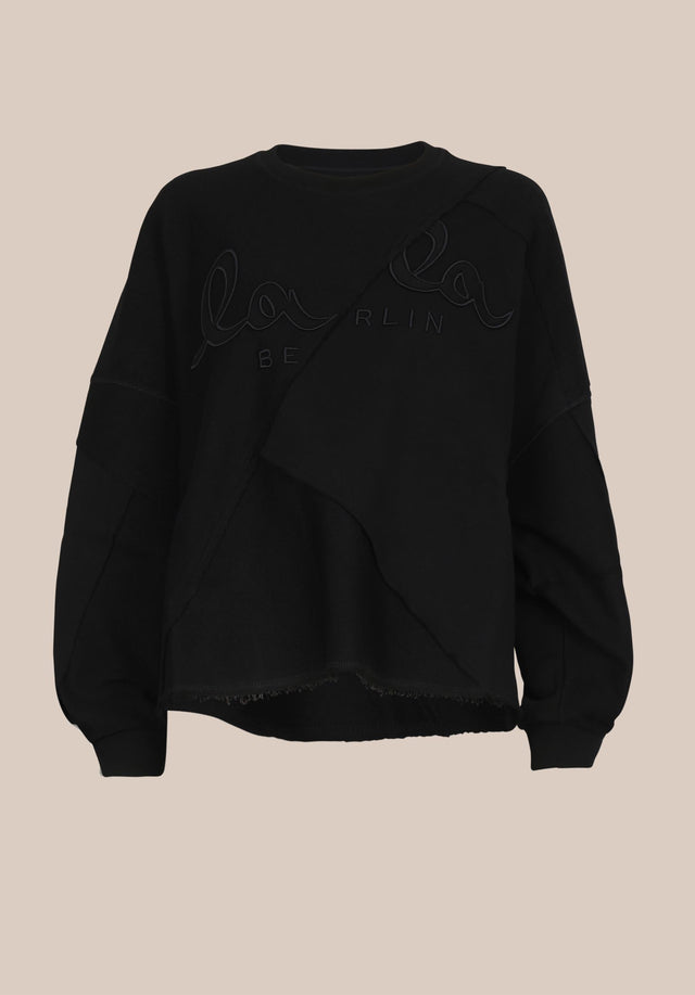 Sweatshirt Izola Black - A casual, oversized sweatshirt made of 100% cotton, sporting a... - 7/7