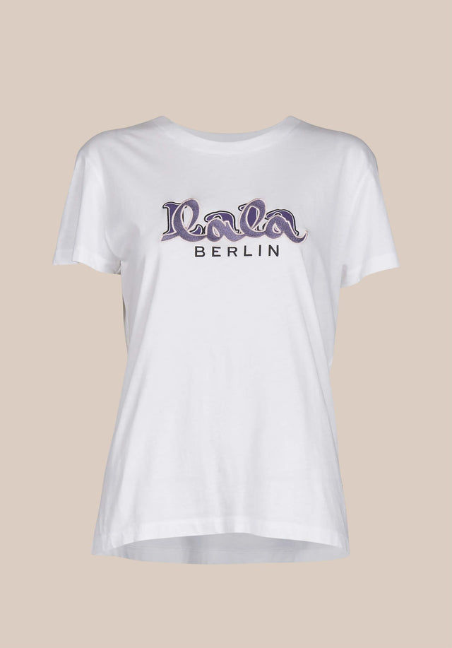 T-Shirt Cara Embroidery White - A classic t-shirt made of 100% cotton, with an embroidered... - 5/5