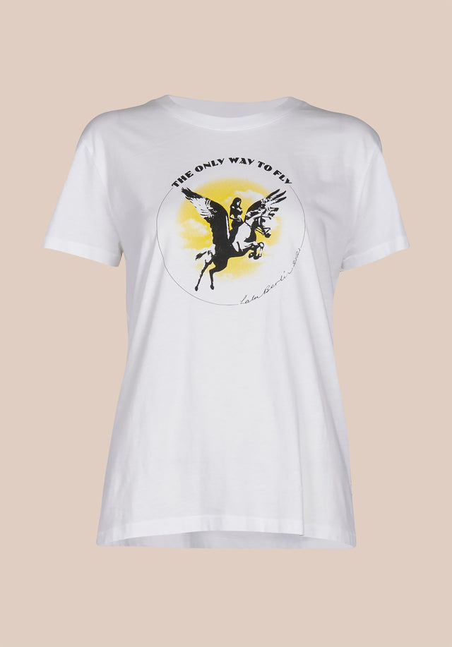 T-Shirt Cara Pegasus White - A classic t-shirt made of 100% cotton, with a bold,... - 1/1