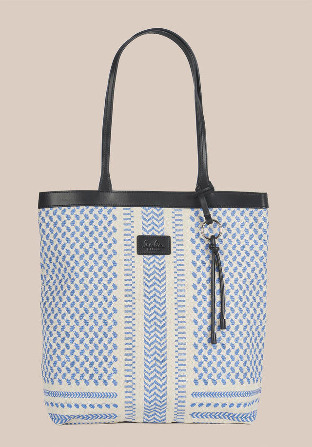 Tote Carmela X-Stitch Palace Blue X-Stitch - An elegant tote bag made of canvas, finished with high... - 7/7