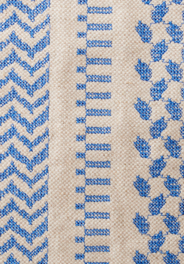 Tote Carmela X-Stitch Palace Blue X-Stitch - An elegant tote bag made of canvas, finished with high... - 6/7