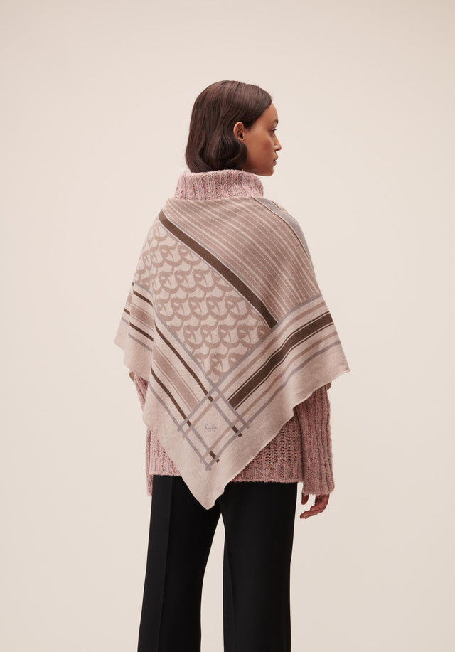 Triangle Stripe Monogram M Stripe Monogram on Dune - A luxuriosly soft, triangle shaped cashmere scarf, featuring our Fall/Winter...