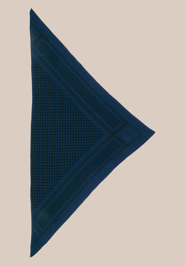 Triangle Trinity Classic M Inchiostro/darkblue - A luxuriosly soft, triangle shaped cashmere scarf, featuring a classic... - 2/2