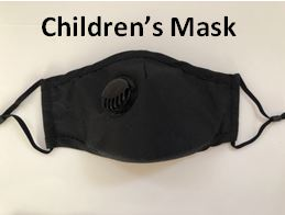 Reusable Respirator CHILDRENS Face Mask PM2.5 - Washable with Exhalation Valve