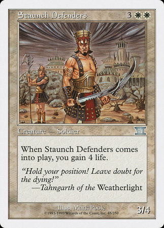 Staunch Defenders [Classic Sixth Edition] | Mana Bar