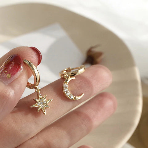 Neverland Moon/Star Earrings | Present Yourself