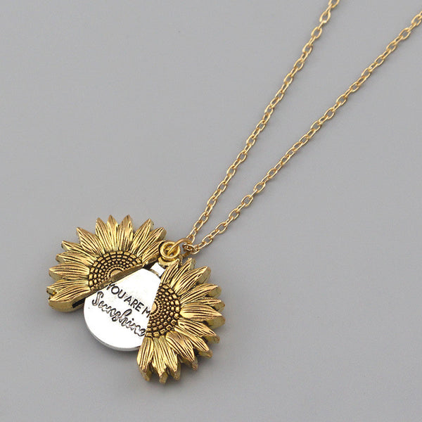 Golden Sunflower Necklace | Present Yourself