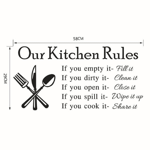 Foodie Decals | Home Decor