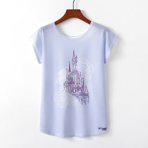 Rose Quartz Castle T-shirt | Illustrated Apparel