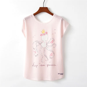 Princess Octopus T-Shirt | Pretty In Pink