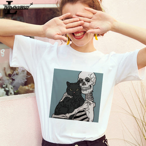 Till Death Do Us A Cat T-Shirt | Illustrated Apparel