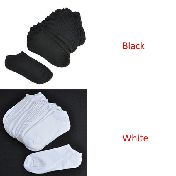 10 Pairs Women Socks Breathable Sports socks Solid Color Boat socks Comfortable Cotton Ankle Socks White Black Blend