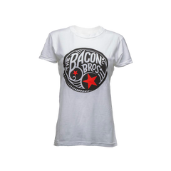 Women's White Bacon Bros Coin Tee