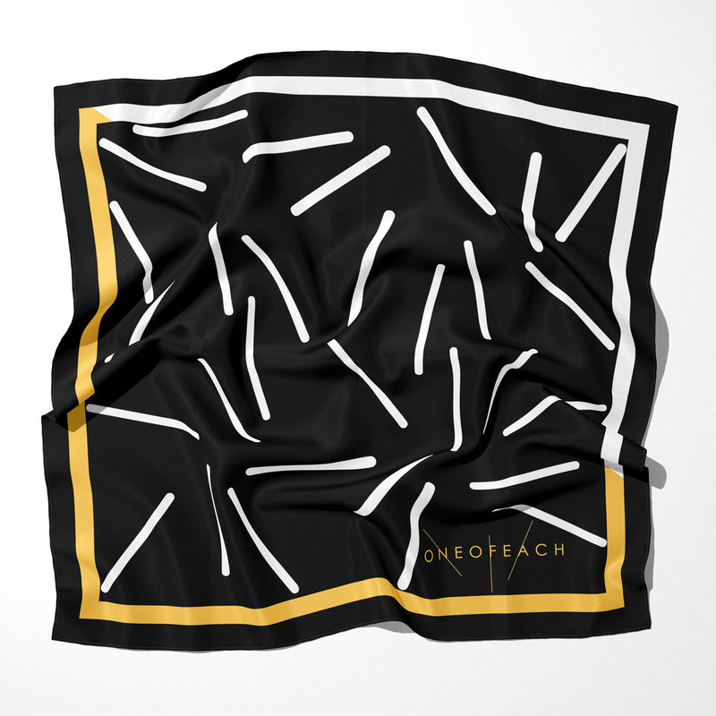 ONEOFEACH Signature Print Scarf | Black