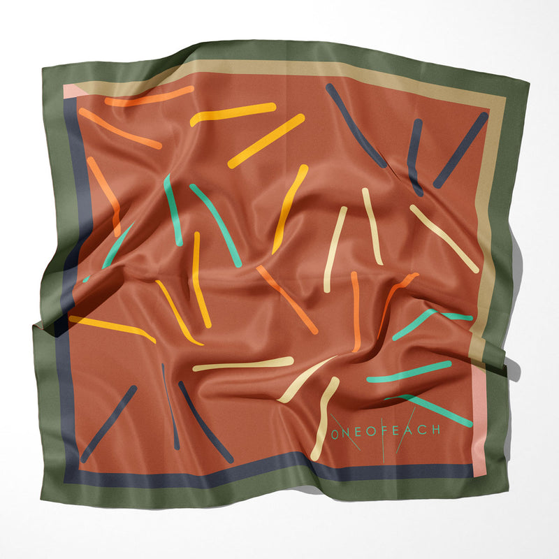ONEOFEACH Signature Print Scarf | Cinnamon Stick